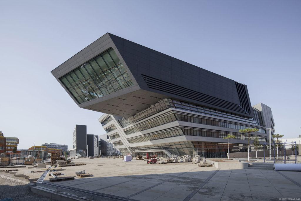 Vienna University Economics Business library building architecture design exterior view