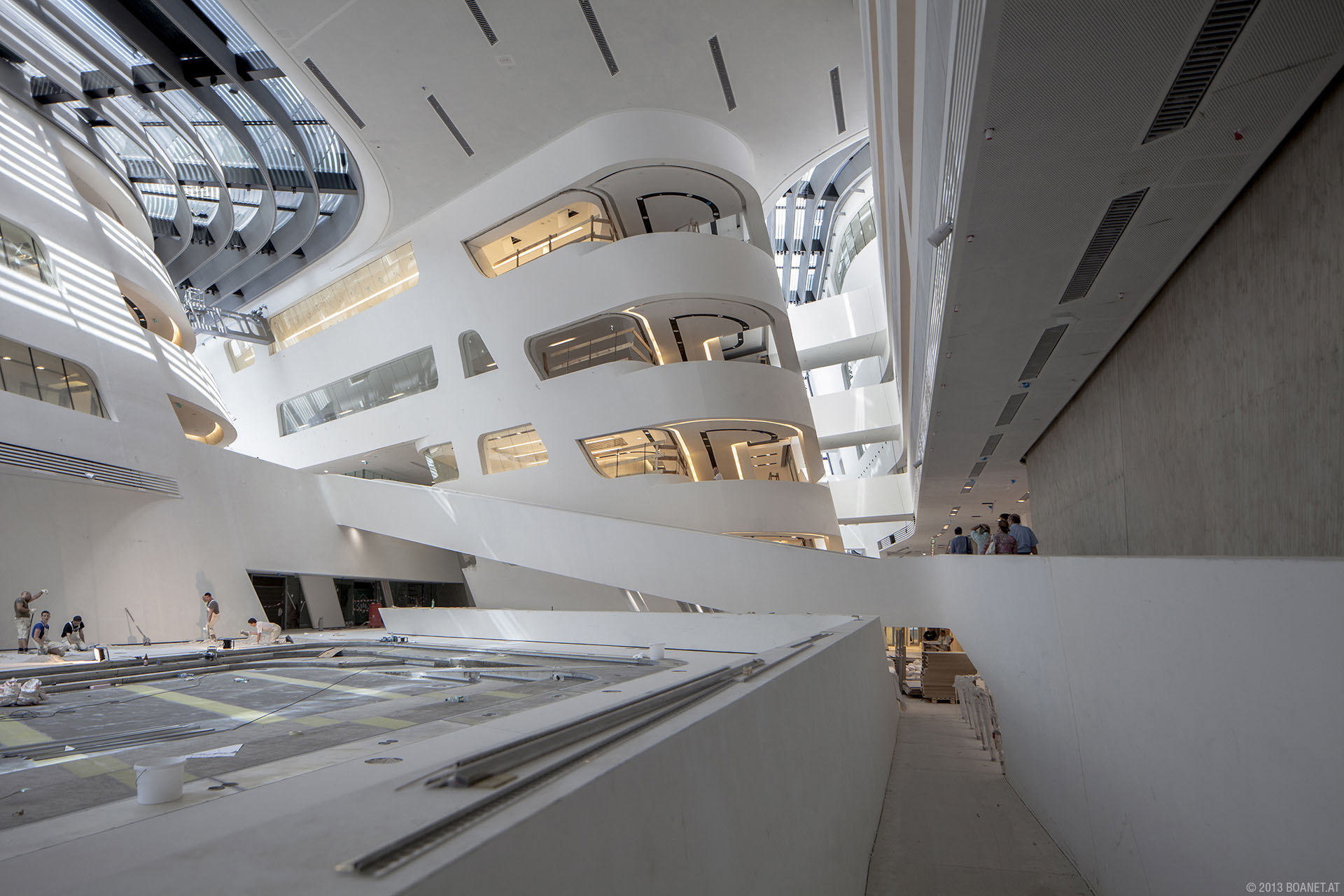 Vienna University Economics Business library building architecture design interior view