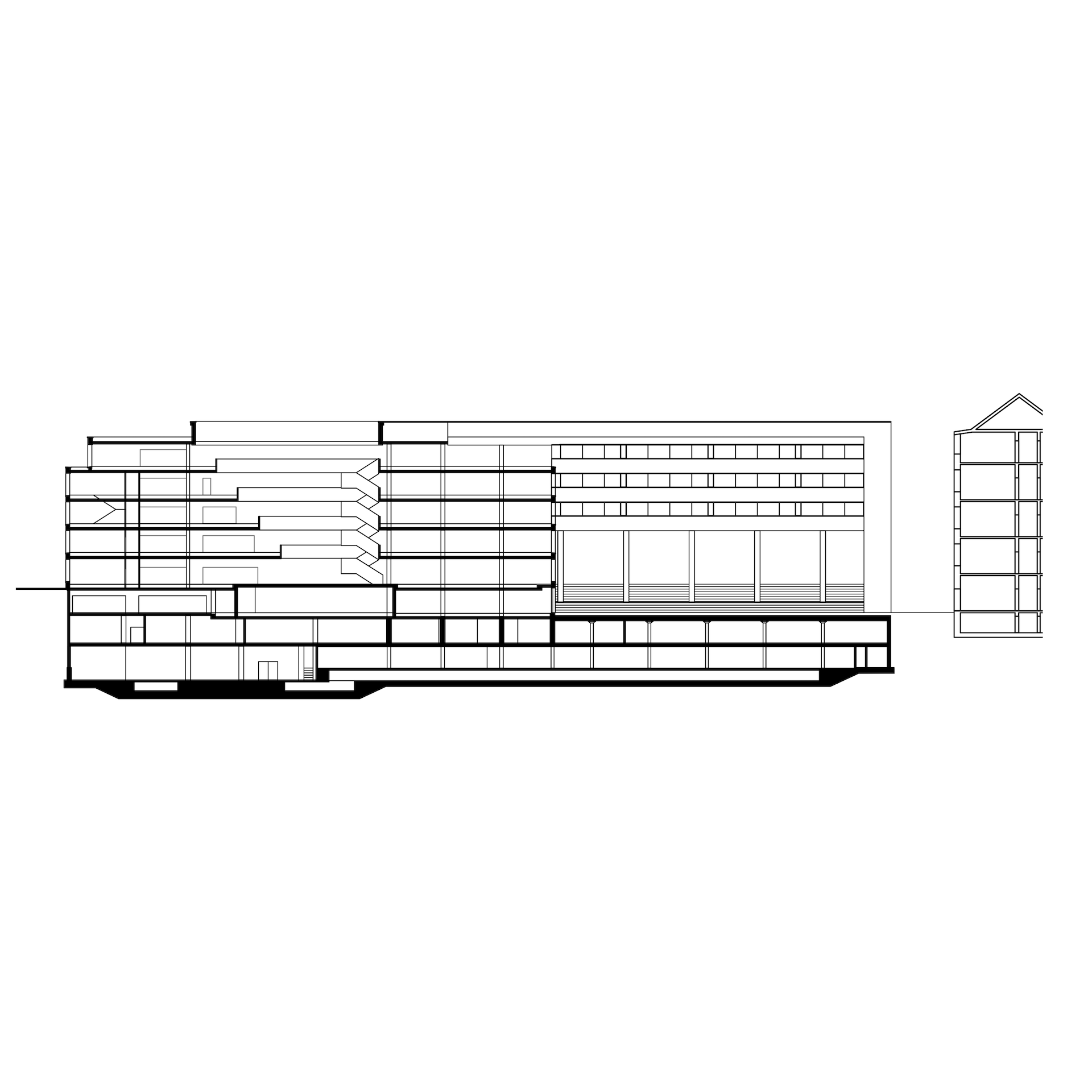 ULB Universitäts Landesbibliothek Darmstadt library building architecture design plan
