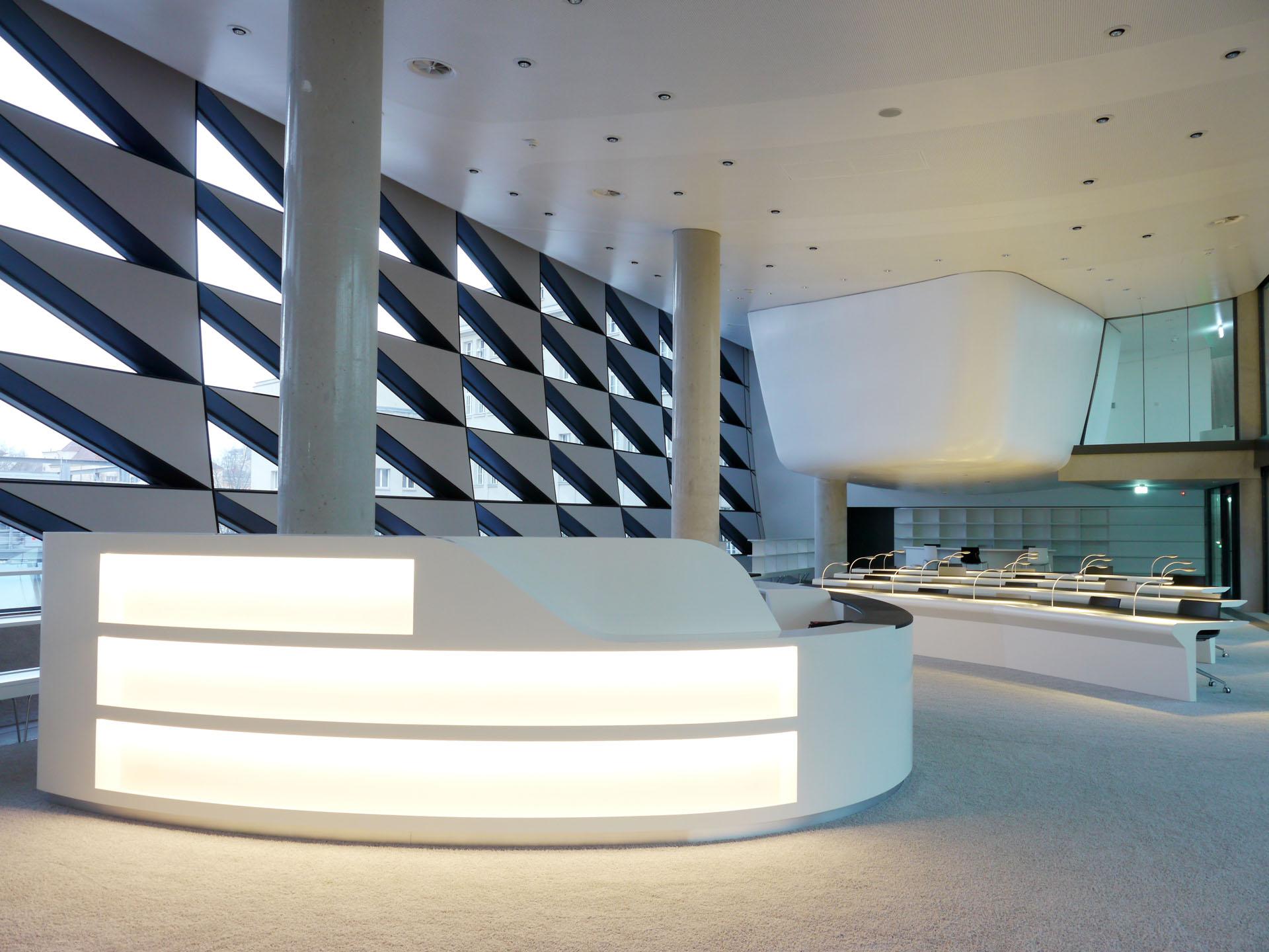 DNB Standort Leipzig library building architecture design interior view