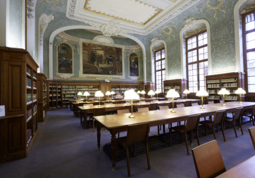 Bibliothèque interuniversitaire Sorbonne library building architecture design interior view