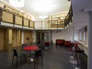 Bibliothèque interuniversitaire Sorbonne library building architecture design interior view