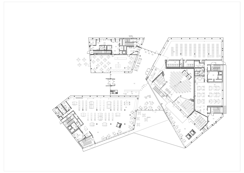 vilnius university library building architecture design plan