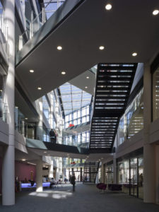 Augustine House Library Canterbury Christ Church University building architecture design interior view