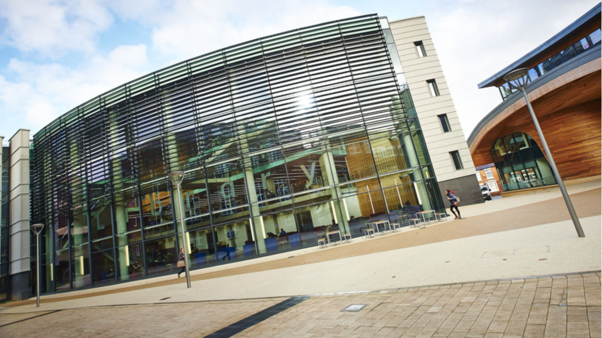 Bill Bryson Library Durham University library building architecture design exterior view