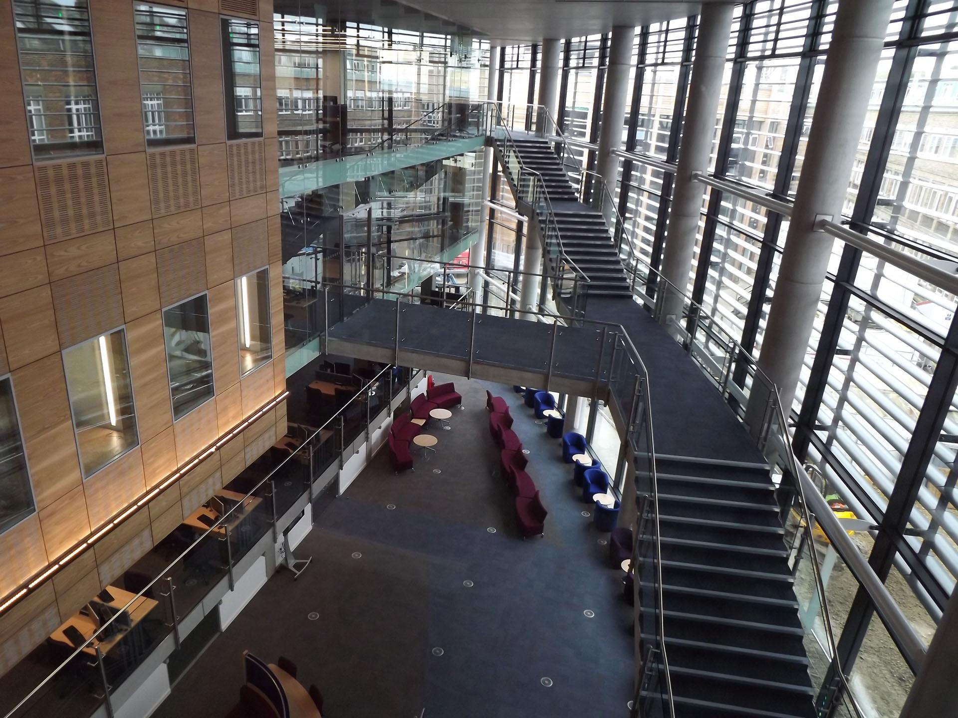 Bill Bryson Library Durham University library building architecture design interior view