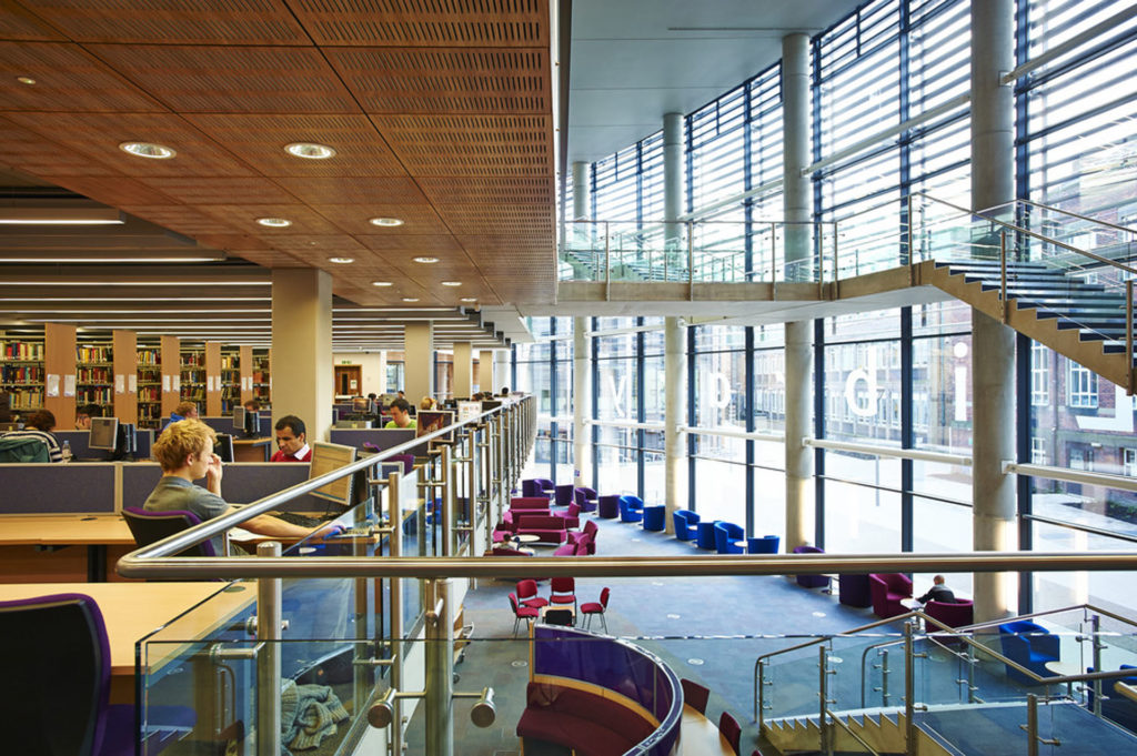 Bill Bryson Library Durham University library building architecture design interior view