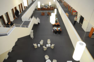 Hochschule Fulda University Applied Sciences library building architecture interior view