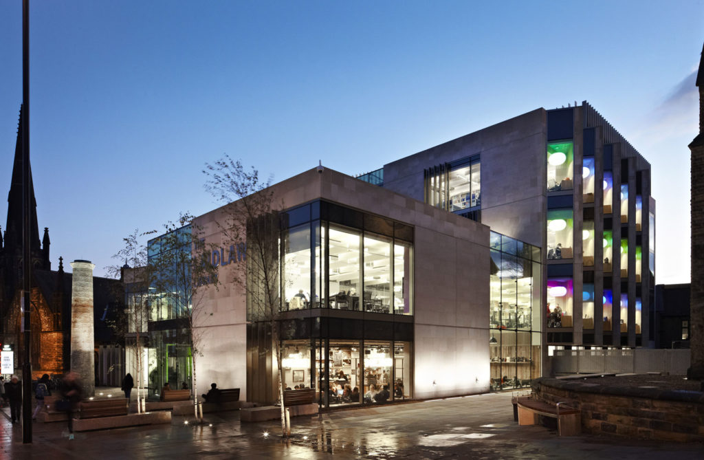 Laidlaw Library University Leeds building architecture design exterior view