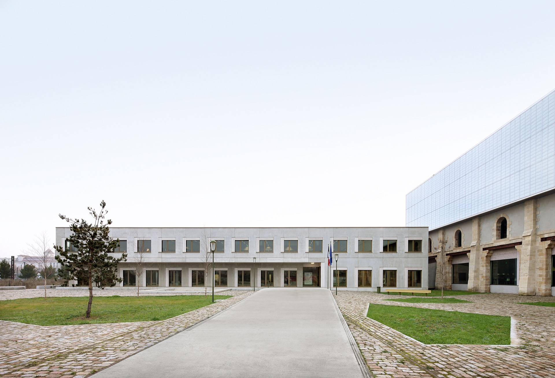 Archives Bordeaux archive building architecture design exterior view