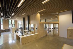 La Ginesta Begues library building architecture design interior view