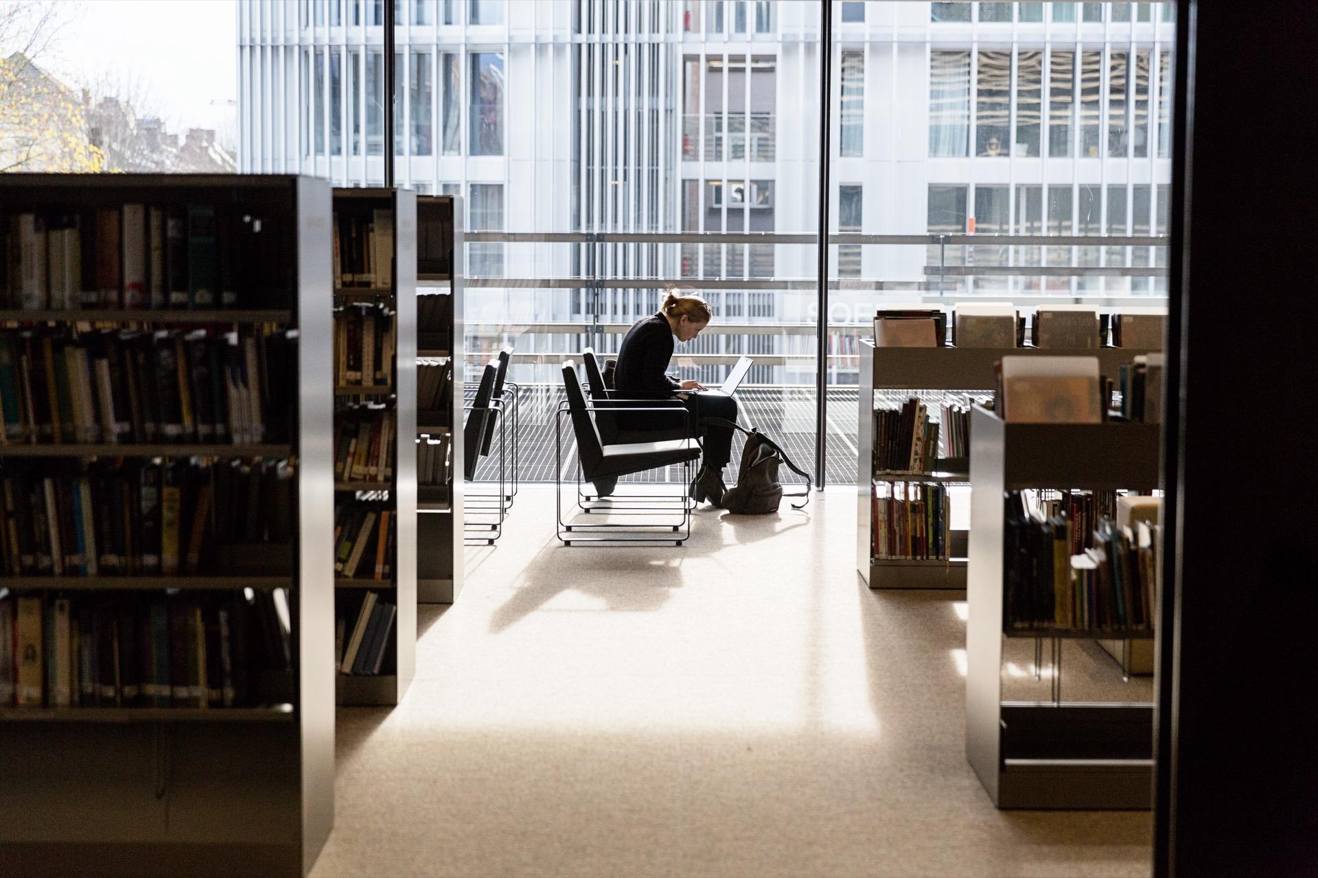 De Krook Gent library building architecture design interior view