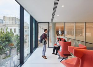 RCSI Royal College of Surgeons in Ireland Dublin library building architecture design interior view