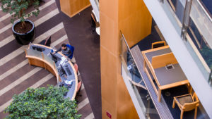 McClay Library Queen's University Belfast building architecture interior view