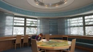McClay Library Queen's University Belfast building architecture design interior view