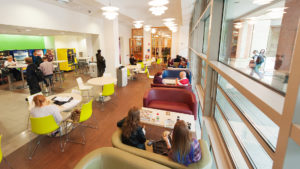 McClay Library Queen's University Belfast building architecture design interior view