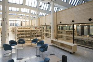 Biblioteca Montserrat Abello Barcelona library building architecture design interior view