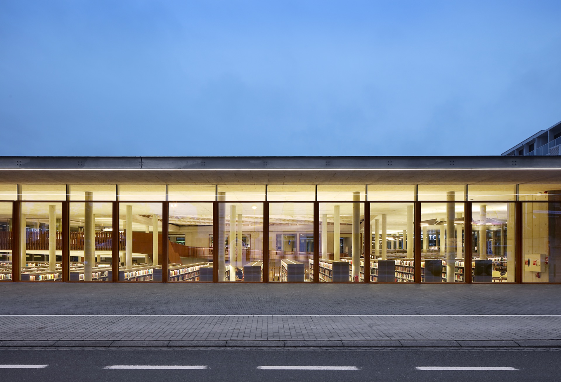 Waregem public library building architecture design exterior view