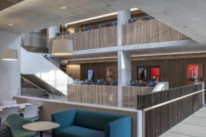 UCL Student Centre London library building architecture design interior view