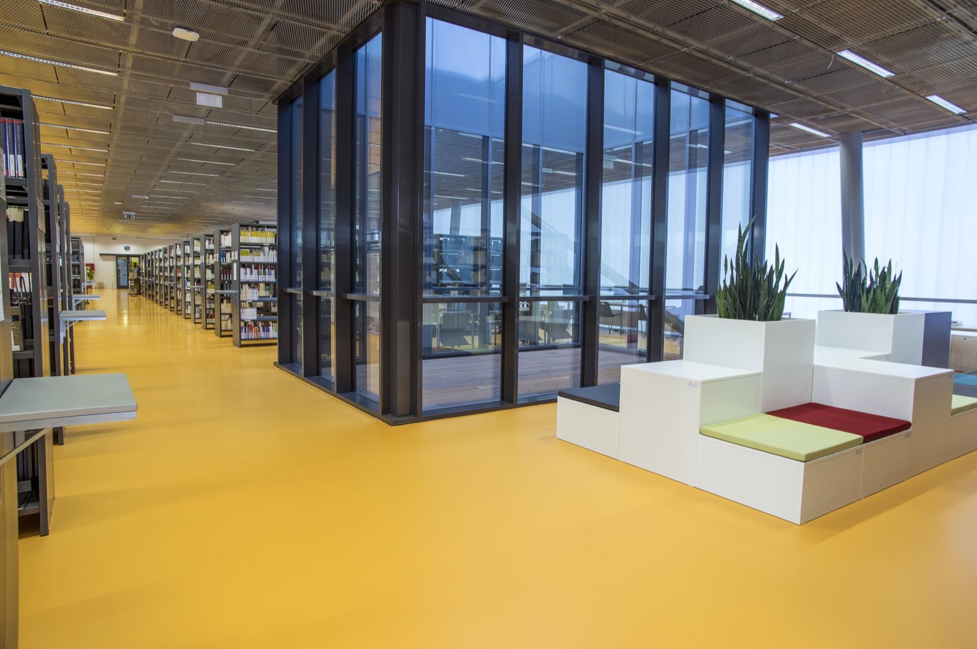 UJEP Jan Evangelista Purkyne University Ústí nad Labem library building architecture design interior view