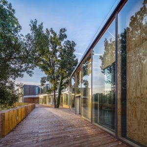 La Ginesta Begues library building architecture design exterior view